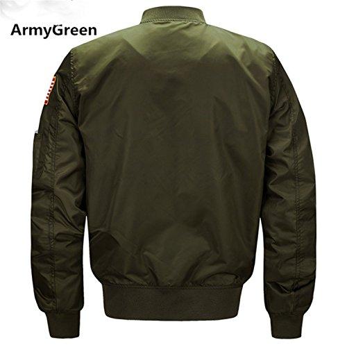 (Marck Sch Fashion Men Spring Autumn Jackets Baseball Coat Mens Clothing Outerwear Air Force Jacket Ma-1 Flight Jacket 8805 Army green 5XL)