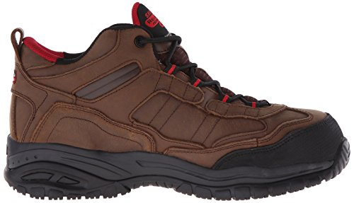 Skechers for Work Scarpa da lavoro morbido da uomo Gilbe, marrone scuro