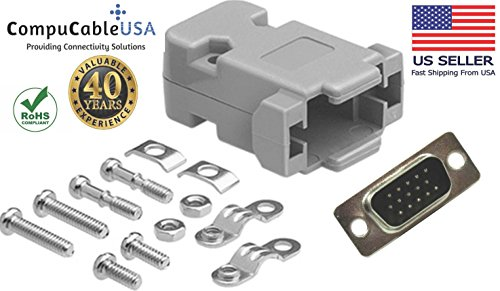 (CompuCablePlusUSA.com Best HD15 Male Solder Type Connector Kit with Plastic Hood)