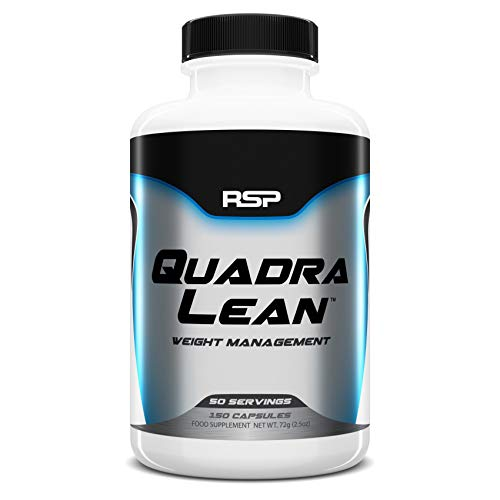 RSP Nutrition QuadraLean – Stimulant Free Weight Management, Metabolism Booster, Energy & Appetite Support – CLA, L…