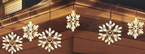 Outdoor Snowflake Icicle Lights in US - 2