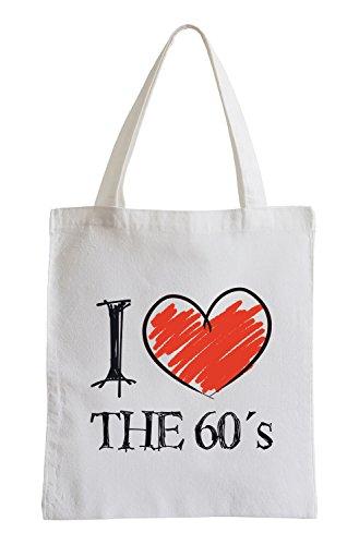 Amo il 60 Fun sacchetto di iuta