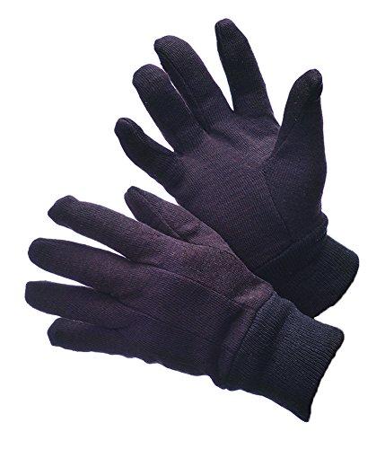 - 6 Pairs Premium Brown Jersey Gloves SIZE: MEN LARGE