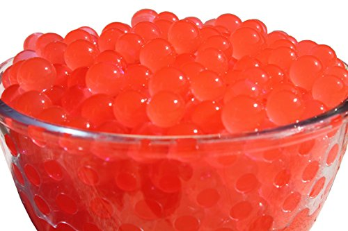SHEING 5000-Piece Transparent Reusable Water Beads Gel, Red (Red Vases Transparent)