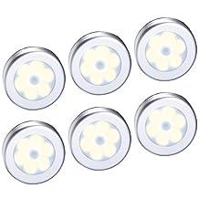 AMIR Motion Sensor Light, Cordless Battery-Powered LED Night Light, Stick-anywhere Closet Lights Stair Lights, Puck Lights for Hallway, Bathroom, Bedroom, Kitchen, etc.