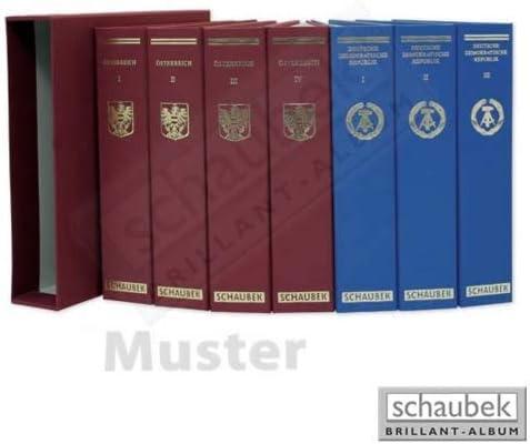 Schaubek koa-824 / 05bアルバムポルトガル1995 – 2001 Brillant、ブルーねじPostにバインダー、Vol。V , withスリップケース