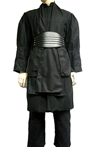 Star Wars Darth Maul Wool Full Costume Tunic Belt Robe Sith Lord Outfit Props (Sith Lord Robes)