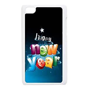 Happy New Year 3D Letters iPod Touch 4 Case White Protect your phone BVS_789527