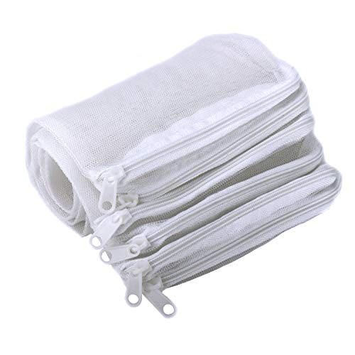 Segarty Aquarium Media Bags, 10 Pieces Nylon Mesh Aquarium Filter, 7.7