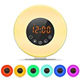 MOSCHE Alarm Clock, Upgraded Wake-Up Light with 6 Nature Sounds, FM Radio, Touch Control, Sunrise/Sunset Simulation and Aviation Aluminum Stent