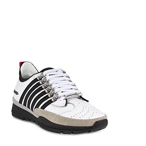 Bianca Scarpe In 251 Dsquared2 Pelle Uomo Da Sneakers Ginnastica 8qTYxdwYZ