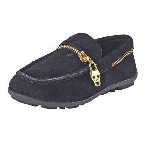 Stitch Round Zipper Toddler Suede Zipper Black Toe Damara Stitch Round Toddler Toe Suede Damara Flats Flats Black 7gnwAxOPwq