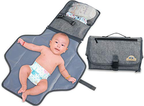 hanging Pad,Diaper Clutch,Lightweight Travel Station Kit for Baby Diapering Gray ()