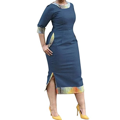 plus size blue jean dress - 7