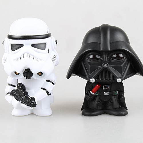(HOLLUK Ble 10Cm 2Pcs/Lot Q Version & Storm Trooper Action Figure Model Toy with Box -Multicolor Complete Series Merchandise)