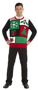 Forum Novelties Adult Jolly Holiday Ugly Christmas Sweater, Multi, Large