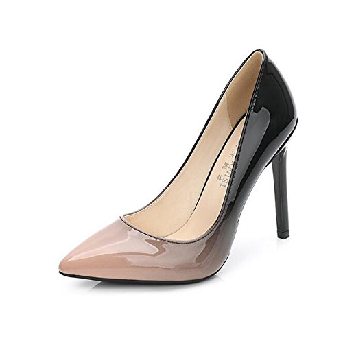 Gradient apricot Ramp Womens Dress Leather Pumps Slip PU On n4xxEpWTF