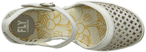 Womens Silver Yadu732Fly Leather Sandals White London Fly Off A5qpWwt6xn