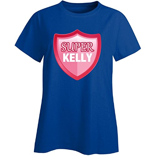 Super Kelly For Hero First Name Gift - Ladies T-shirt Ladies L Royal