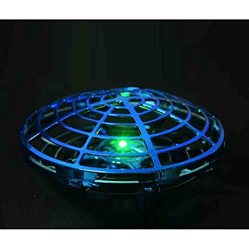 NiGHT LiONS TECH Novelty UFO Flying Toy,Hand-Controlled Suspension Quadcopter Toy, Infrared Induction Interactive Drone Indoor Flyer Toys with 360° Rotating and LED Lights for Adults,Kids,Teenagers by NiGHT LiONS TECH (Image #3)