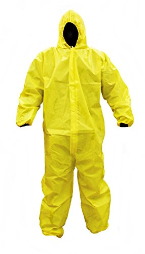 Malt Industries PC55428 ProChem Hooded Coverall, Elastic Wrists, Ankles, and Hood, Bound Seams, Front Zipper with Storm Flap, Chemical and Biohazard Protection, Alternative to TyChem, Size: LARGE, 1 Pack by Prochem