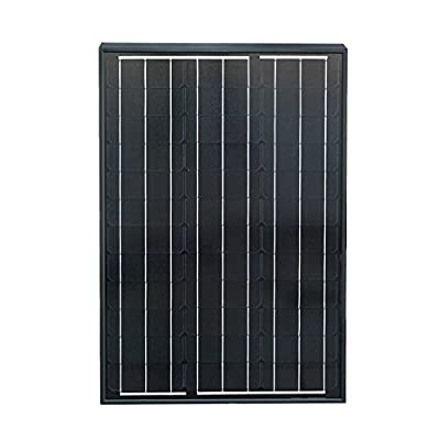 ECO-WORTHY 50 Watts 12 Volts Monocrystalline Photovoltaic PV Solar Panel Module Off Grid Battery Charging RV Boat