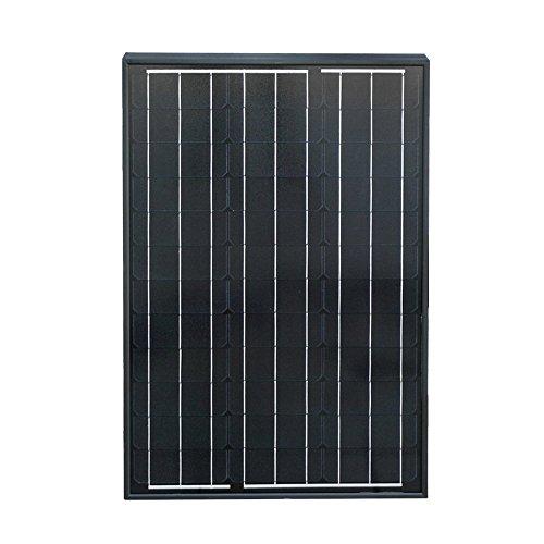 ECO-WORTHY 50 Watts 12 Volts Monocrystalline Photovoltaic PV Solar Panel Module Off Grid Battery Charging RV Boat (Black Solar Panel)