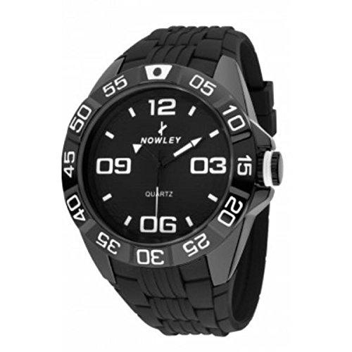 Reloj NOWLEY 8-5274-0-1 - Reloj chico caja metalica y correa de caucho negro: Amazon.es: Relojes