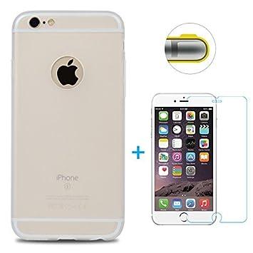 Funda iPhone 6, iPhone 6s Carcasa Silicona Gel Mate + Vidrio Templado Protector de Pantalla - Maviss Diary Case Ultra Delgado TPU Goma Flexible Cover ...