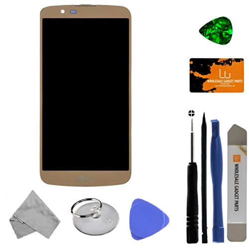 LCD, Digitizer & Frame Assembly for LG K10 (Gold) with Tool Kit by Wholesale Gadget Parts