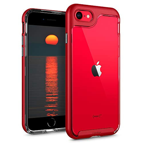 Caseology Skyfall for Apple iPhone SE 2020 Case for iPhone 8 Case (2017) for iPhone 7 Case (2016) - Red