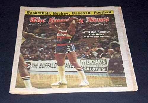 (THE SPORTING NEWS COMPLETE NEWSPAPER MARCH 19 1977 ELVIN HAYES)