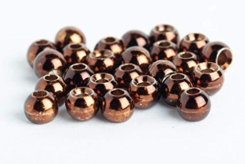 Blue Wing Olive Tungsten Beads for Fly Tying - 25 Pack (Metallic Coffee, 2.0 mm (5/64))