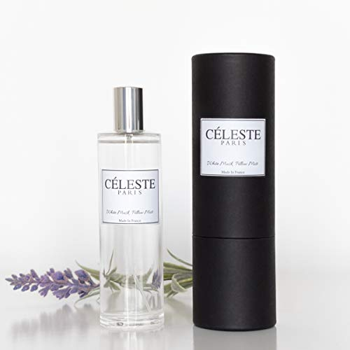 Celeste Paris Pillow Spray for Sleep - Deep Sleep Pillow Spray Aromatherapy | Heavenly White Musk Clean Scent 100ml | Beautifully Developed Pillow Sprays to Help You Sleep | Made in France