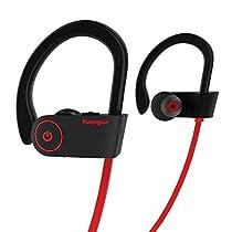 Hasta-20% en Auriculares Bluetooth, Arbily Auricular Magneticos Bluetooth 4.1, Cascos Inalambrico CSR Chips HiFi Estereo, Sweatproof IPX7, Microfono Incorporado y Cancelacion de Ruido (Negro)