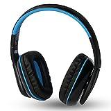 KOTION EACH B3506 Gaming Headset mit Hifi-Treiber On-Ear-Kopfhörer mit Noise Cancelling Stereo-Ohrhörer mit Lautstärkeregler Mikrofon für PC Computer Gaming, Laptop-Computer (schwarz+blau)