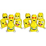RIN EMOJI Assorted Emoticon Party Favors Drawstring Backpacks, 24-Pack, 16x13-Inch