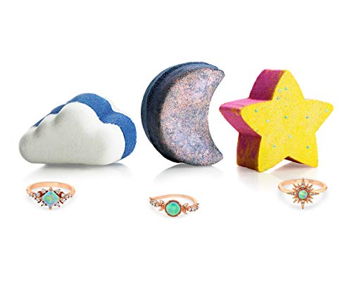 Celestial Bath - Fragrant Jewels Celestial Bath Bomb Trio with Collectible Rings (Size 5-10)