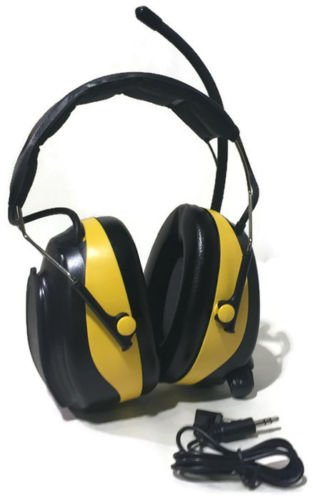 Outdoor Power Deals OPD Digital for Work AM FM radio Yellow Earmuffs Headphones use with MP3 IPOD