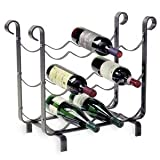 Enclume 12-Bottle Wine Storage Rack, Hammered Steel