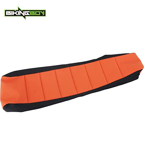 |Seat Covers|Orange Black Motorcycle MX Motocross Offroad Ribbed Gripper Soft Seat Cover for KTM SX 50 SX50 09-2015 10 11 12 13 14|by AZUDAN| (Bike 09 Bmx)