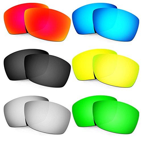Hkuco Mens Replacement Lenses For Costa Corbina Sunglasses Red/Blue/Black/24K Gold/Titanium/Emerald Green