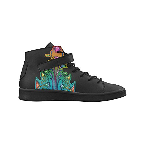 Artsadd Grunge Fleur Ornements Bout Rond Chaussures Pour Femmes Boost Sneaker