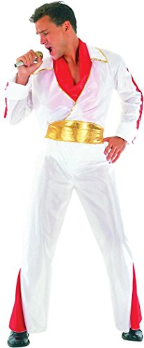 Mens Fancy Party Dress Rock Star Elvis Presley Style Costume Outfit Plus Size