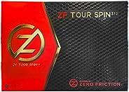 Zero Friction Tour Spin Golf Balls-12 Pack
