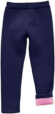 Swtddy Girls Winter Leggings Fleece Lined Thick Warm Leggings Toddler Kids Pants