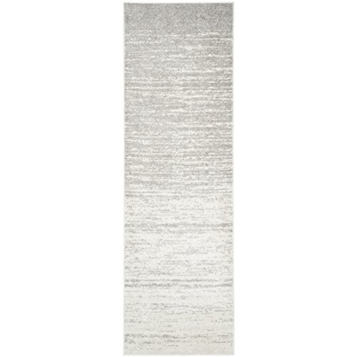 Safavieh Adirondack Collection ADR113B Ivory and Silver Modern Abstract Runner (2'6