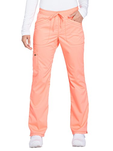 Dickies Tie (Dickies Essence Women's Straight Leg Drawstring Scrub Pant Medium Orange Zest)