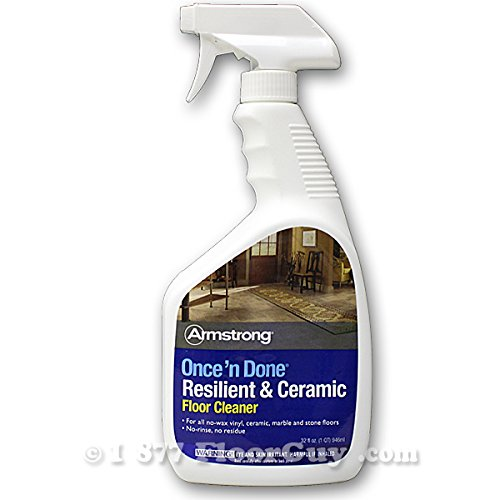 Armstrong Once 'N Done Resilient & Ceramic Floor Cleanr, 32 oz Spray (S-309) - 2 Pack - Cleanr Spray