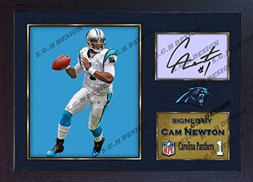 (S&E DESING Cam Newton #1 Carolina Panthers NFL Signed Autograph American Football)